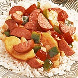 Sausages With Apples