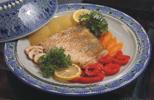 Baked Ocean Perch in Cheese Sauce