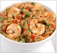 Greek-Style Shrimp with Rice
