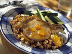 Cinnamon Peach Pork Chops