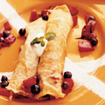 Mexican Fruity Yogurt Crepes