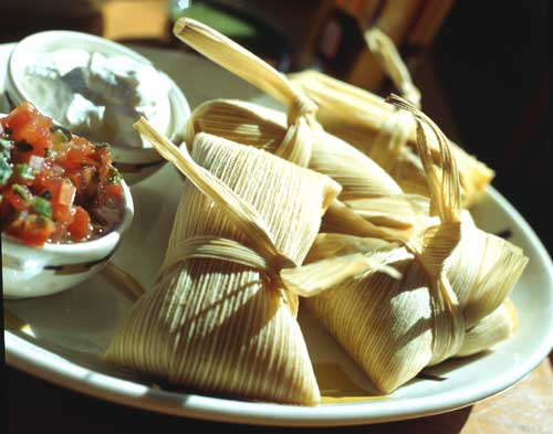 Sweet Corn and Halibut Tamales