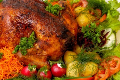 Traditional Roast Turkey with Festive Stuffing