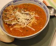 Coconut-Tomato Fish Soup with Coriander
