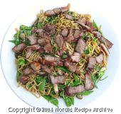 Noodles with Smoked Pork and Rosemary
