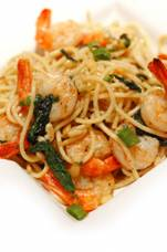 Shrimp in Champagne Sauce With Pasta