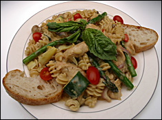 Sherried Chicken with Asparagus and Noodles