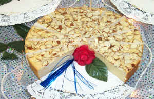 Cheesecake with Toasted Almond