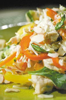 Chinese Chicken Salad with Ginger