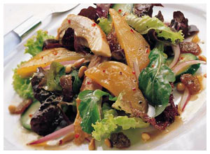 Pear and Chicken Salad with Walnuts