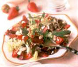 Strawberry and Stilton Salad with Cheese