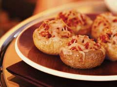 Sausage Stuffed Mushrooms with Red Wine