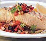 Sea Bass with Strawberry-Orange Salsa
