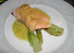 Salmon in Mango and Ginger Sauce
