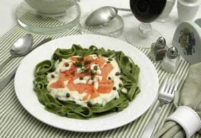 Smoked Salmon with Fettuccine-Vodka And Dill