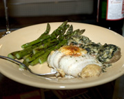 Rolled Flounder Stuffed with Blue Crab