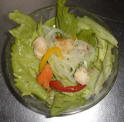 hot scallop salad