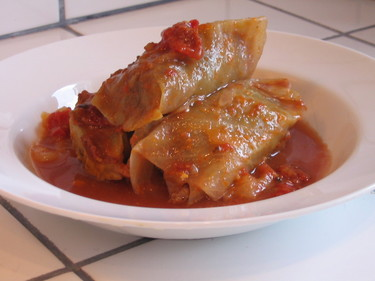 Cabbage Rolls with Sour Cream Sauce