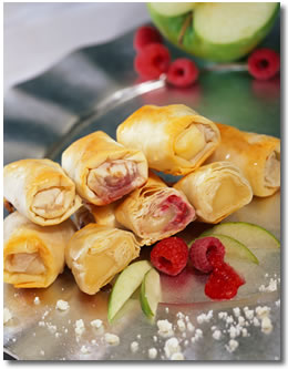 Raspberry Brie Crescents