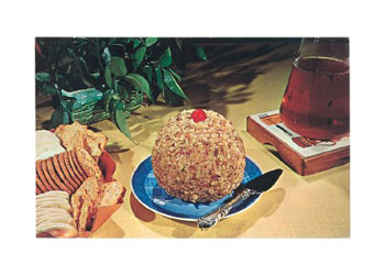 Cheese Ball with Raspberry Preserves
