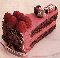 Chilled Raspberry Bavarian Cake
