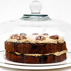 Walnut Cake with Coffee Syrup