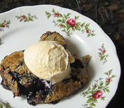 Blueberry Cake Cobbler