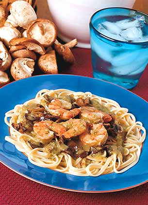 Linguine and Shrimp
