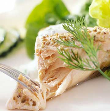 Dilled Sour Cream Salmon