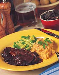 Brisket in Coffee Barbecue Sauce