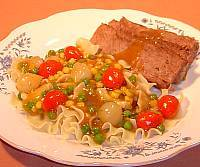 Pot Roast Over Noodles