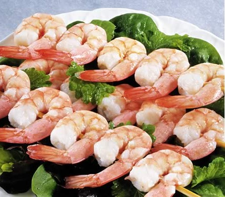 Skewered King Prawns